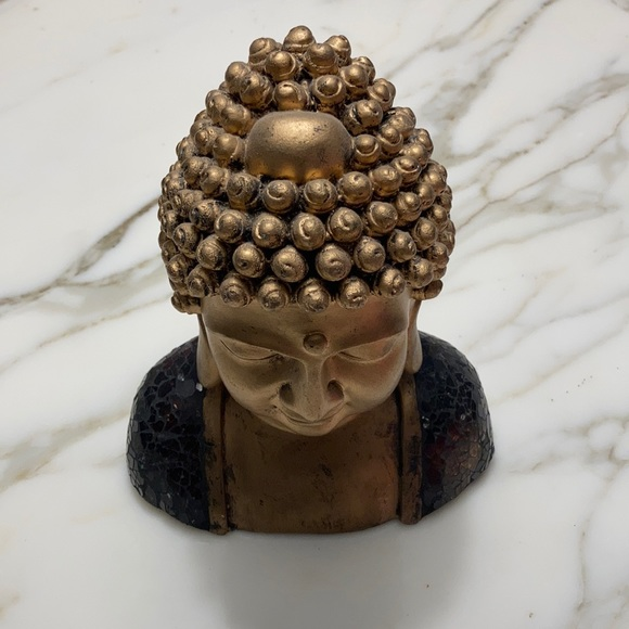 Wooden gold painted Buddha
